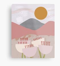 Desert Mountain Sunrise Metal Print