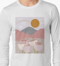 Desert Mountain Sunrise Long Sleeve T-Shirt
