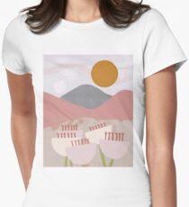 Desert Mountain Sunrise Fitted T-Shirt