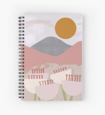 Desert Mountain Sunrise Spiral Notebook