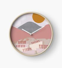 Desert Mountain Sunrise Clock