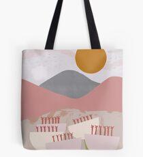 Desert Mountain Sunrise Tote Bag