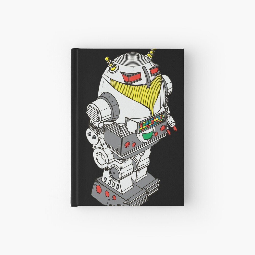Retro Robot  by Chillee Wilson Notizbuch
