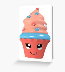 niedlicher Kawaii Cupcake Grußkarte