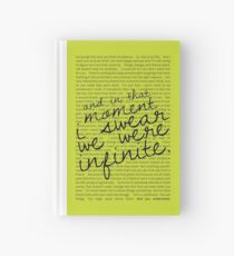 We Were Infinite - Quotes - Green Hardcover Journal