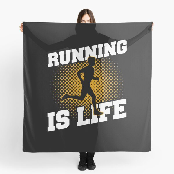 Running Is Life Sports Gift Idea Scarf