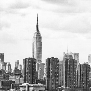 Empire State Building, New York City Monochrome by cadinera