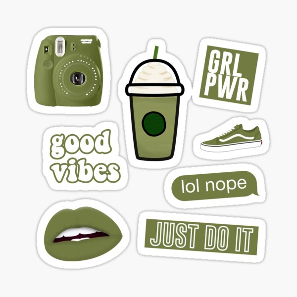 Olive Green Sticker Pack Sticker