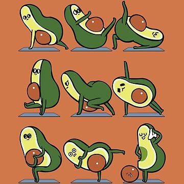 Avocado-Yoga für einen flachen Bauch von Huebucket