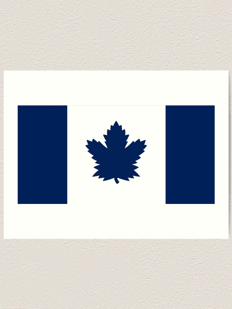 Toronto Maple Leafs Canada Flag Art Print By Phneepers Redbubble