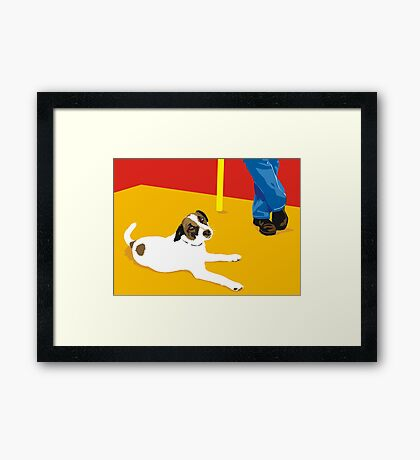 biding our time Framed Print