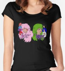 Jem and the Holograms Vs The Misfits Women's Fitted Scoop T-Shirt