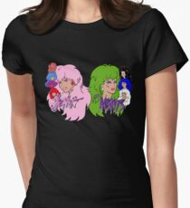 Jem and the Holograms Vs The Misfits Women's Fitted T-Shirt