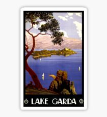 Lake Garda Vintage Poster Restored Sticker