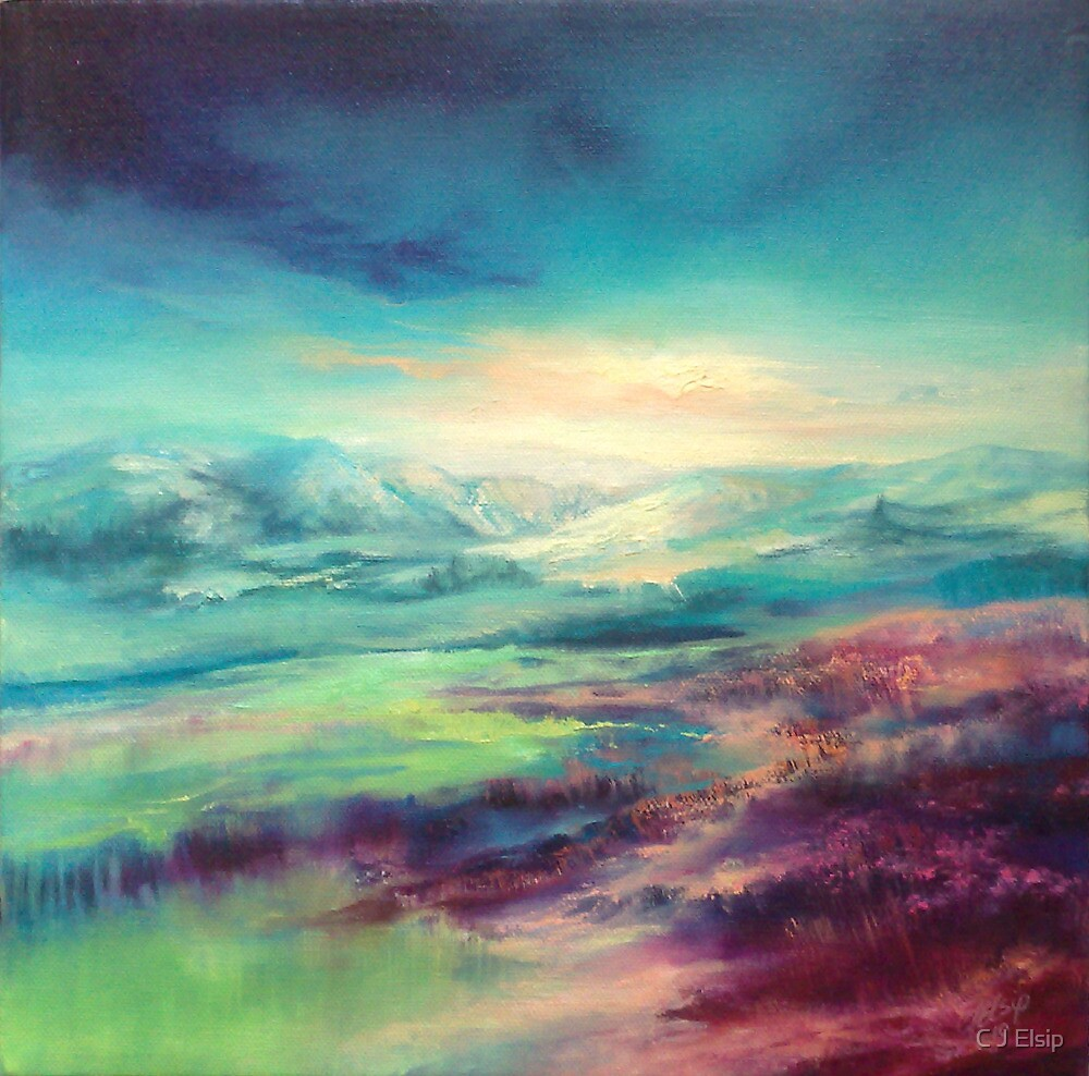 """""""Heatherlight"""" from the Scottish Borders by C J  Elsip"""