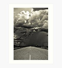Going South, down the west coast of Australia. Art Print