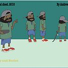 Character model sheet for animation  by Andrew Hennig