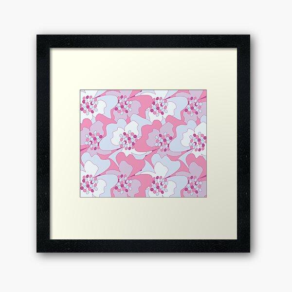Pink, Blue Haze Passion Flowers Framed Art Print