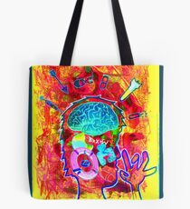 full pic of drawing-collage Tote Bag