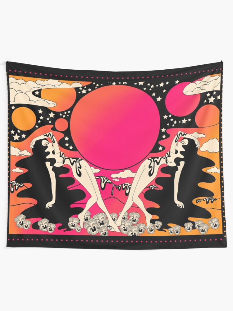 Alternate view of Groovy ladies at sunset  Tapestry