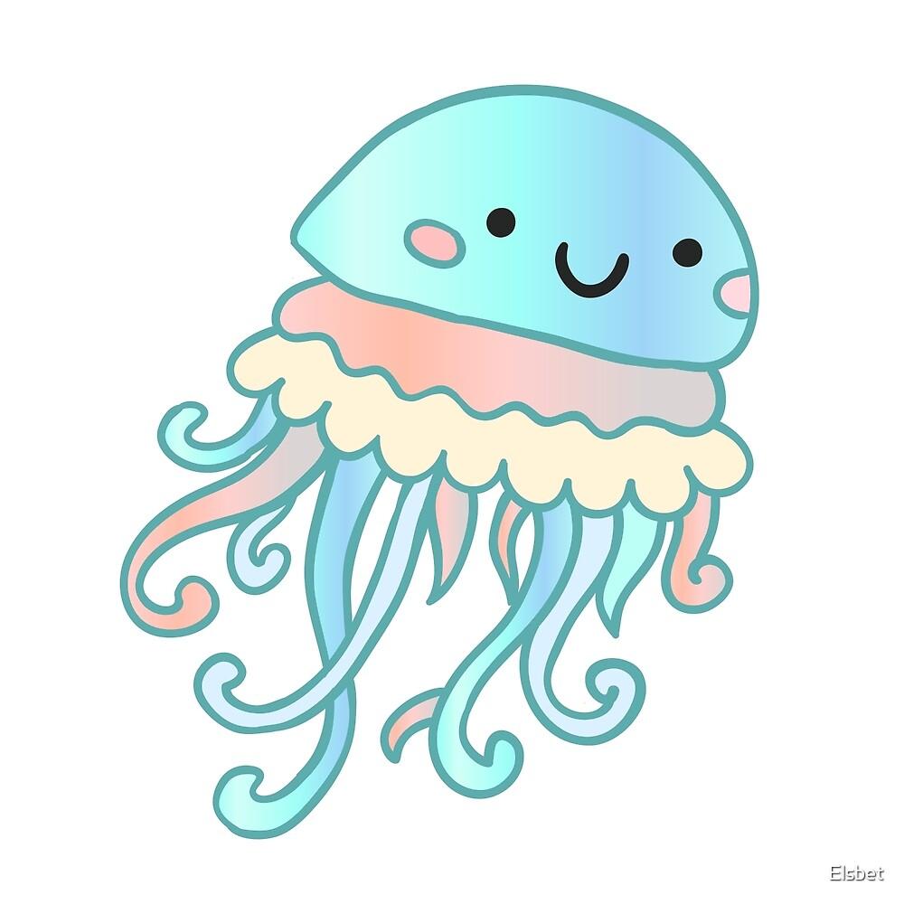 Cute jellyfish by Elsbet