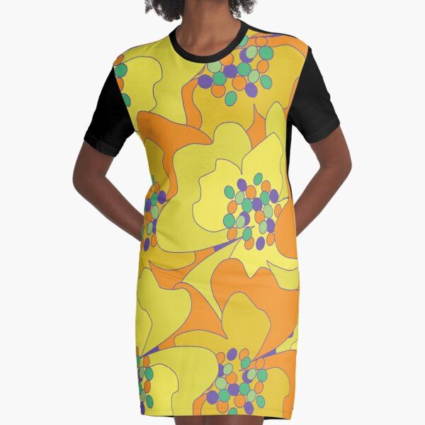 Early Spring Passion Flowers 1 Graphic T-Shirt Dress