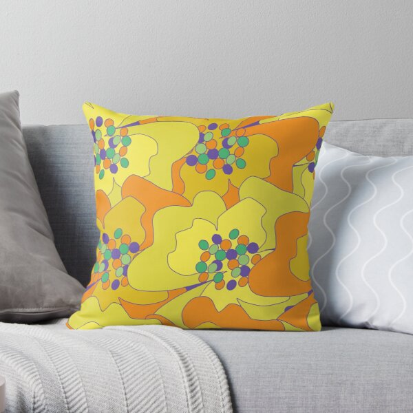 Early Spring Passion Flowers 1 Throw Pillow
