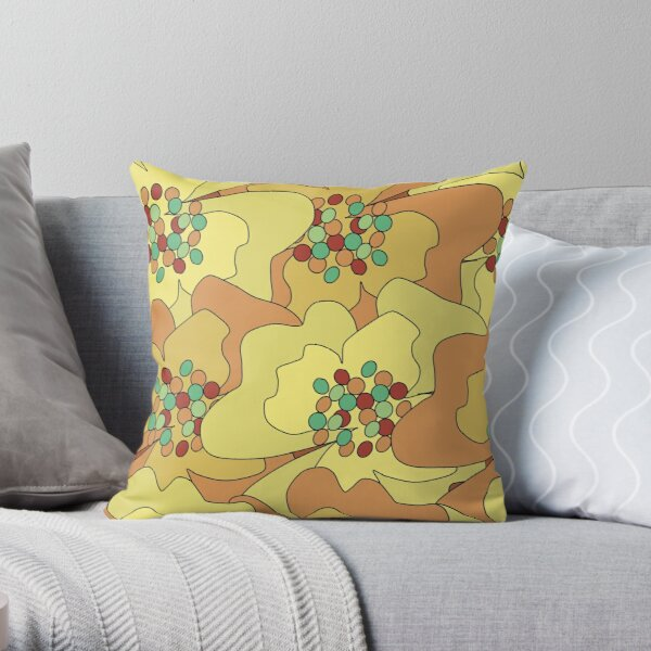 Early Spring Passion Flowers 2 Throw Pillow