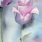 Watercolor Tulip Fine Art Painting1 by Sandra Connelly