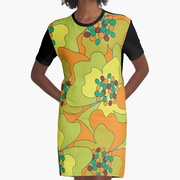 Late Spring Passion Flowers 1 Graphic T-Shirt Dress