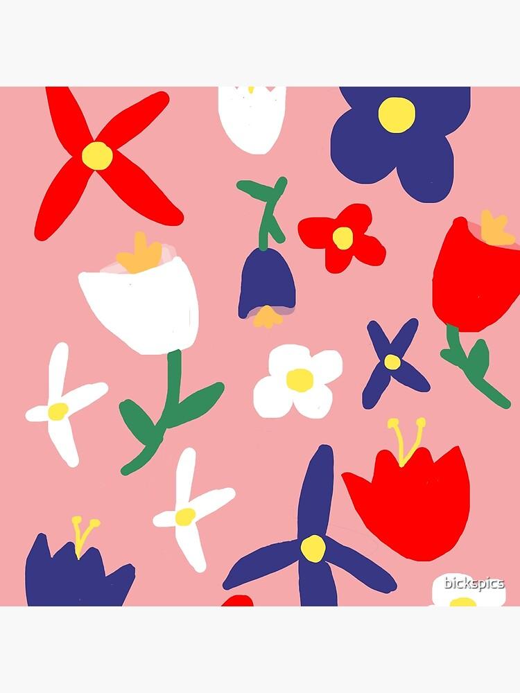 Großes rosa Blumen Bacchanal von bickspics
