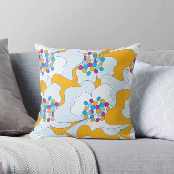 Late Spring Passion Flowers 2 Throw Pillow
