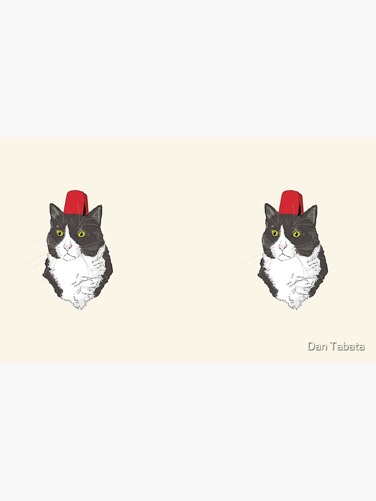 Fez Hat Cat by dmtab