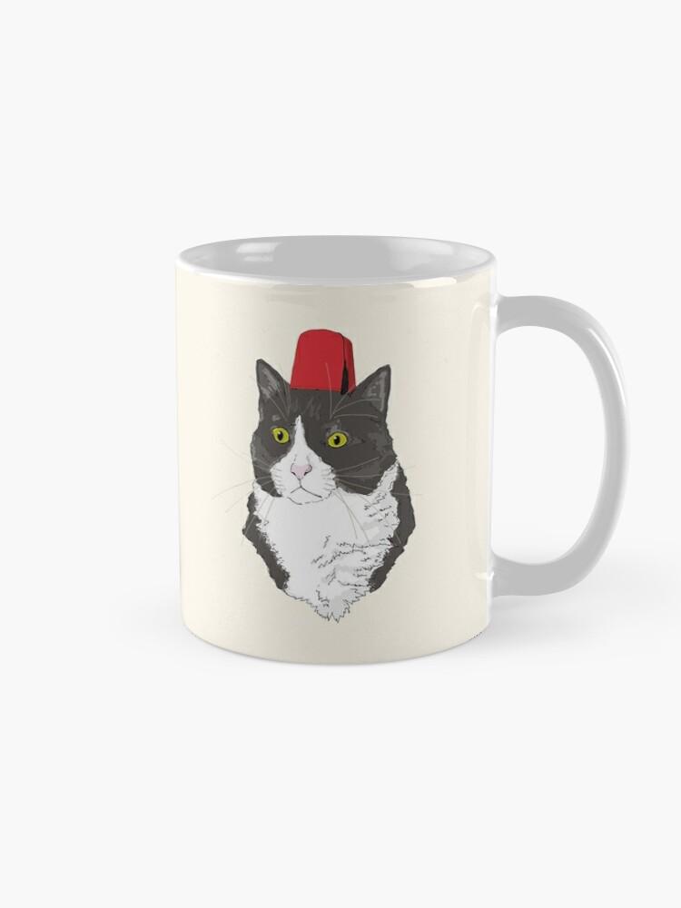 Alternate view of Fez Hat Cat Mug