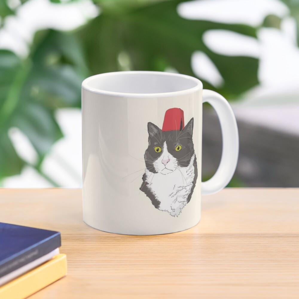 Fez Hat Cat Mug