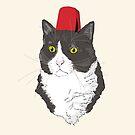 Fez Hat Cat by Dan Tabata