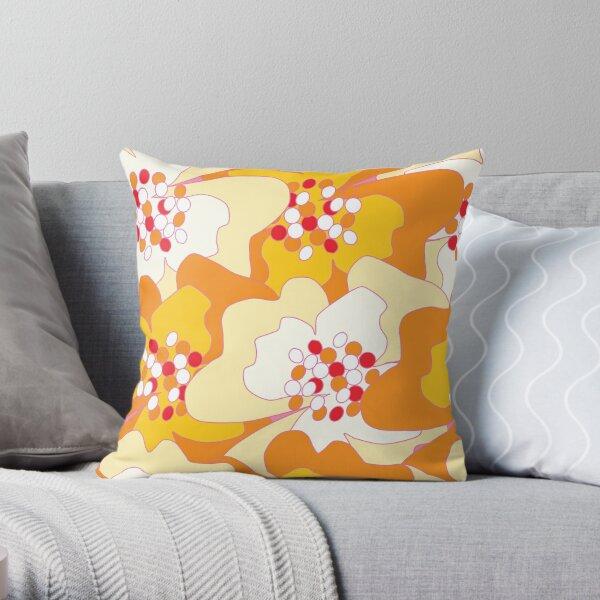 Summer Flowers Delight 2 Throw Pillow