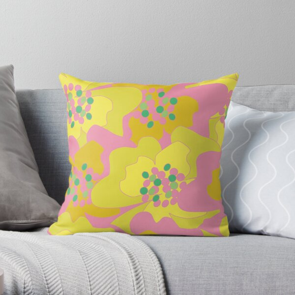 Lovers Passion Flowers 2 Throw Pillow