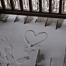 Heart in the snow by Amanda Huggins