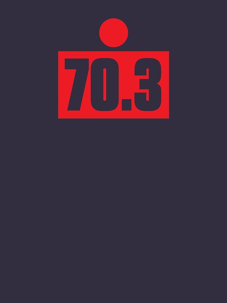 70.3 Half Ironman Triathlon Graphic by aeero