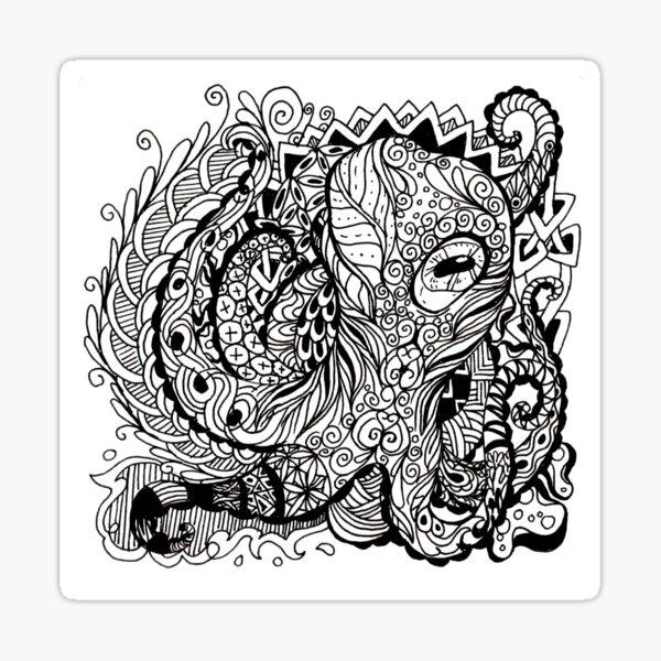 Patterned Octopus Sticker