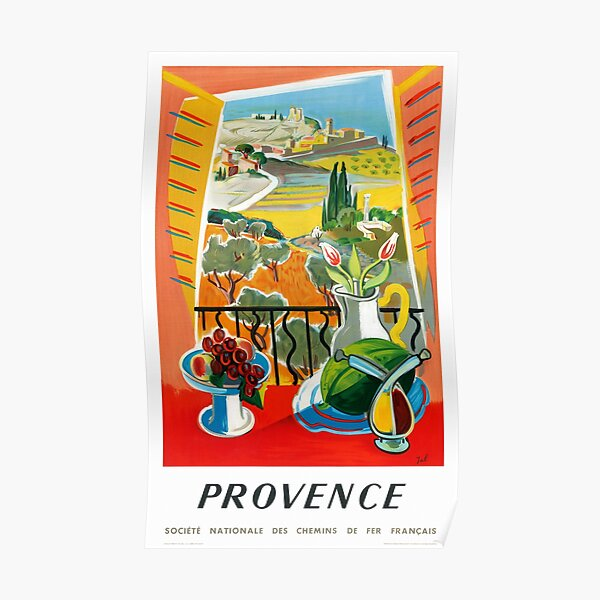 Provence France Vintage Travel Poster Restored Poster