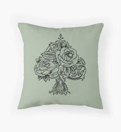 Flower Spade Throw Pillow