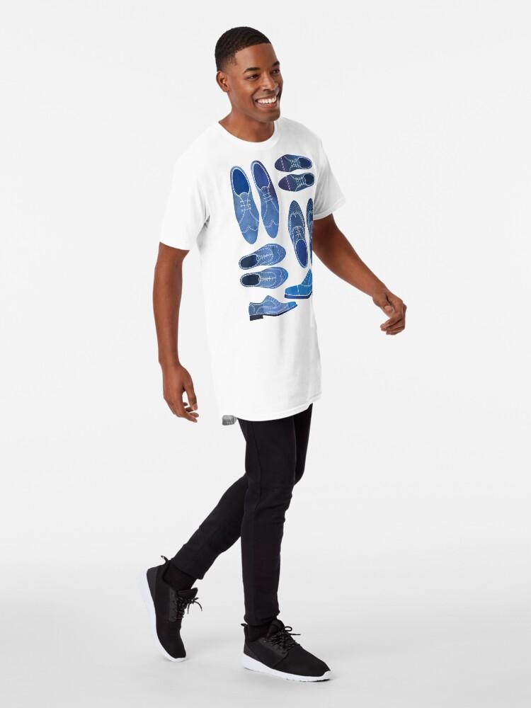 Alternate view of Blue Brogue Shoes Long T-Shirt