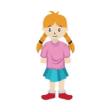 A Perfect Gift For Your Sibling Or Friend An Illustration Of A Simple Cute Little Girl T-shirt by Customdesign200