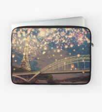 Love Wish Lanterns over Paris Laptop Sleeve