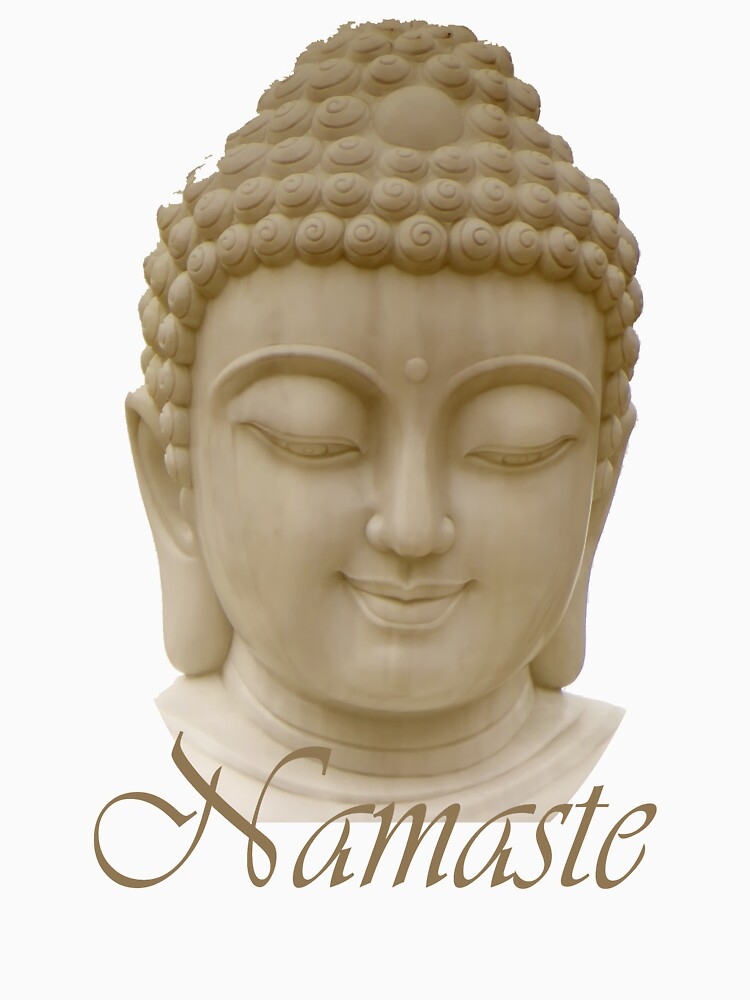 Namaste featuring Serene Buddha by Rightbrainwoman