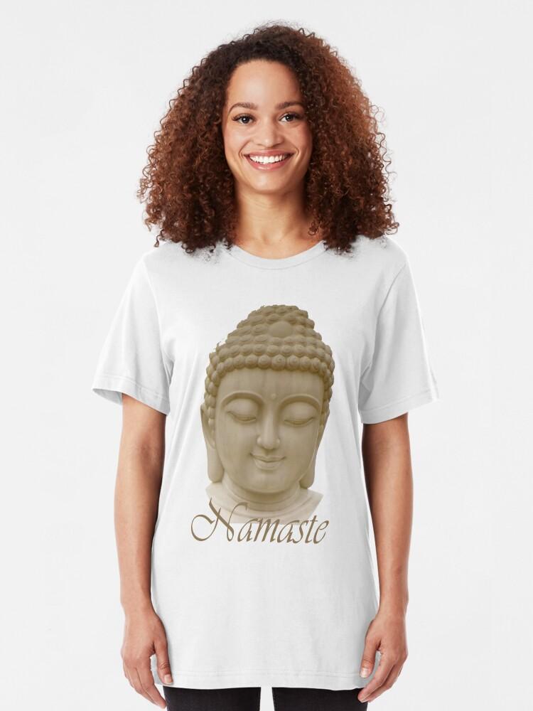 Alternate view of Namaste featuring Serene Buddha Slim Fit T-Shirt