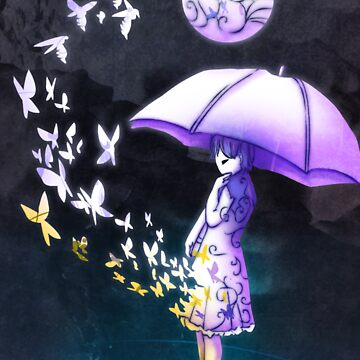 Umbrella Girl by chaoslavawolf