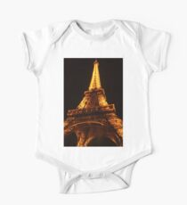 Glowing Gold Eiffel Kids Clothes